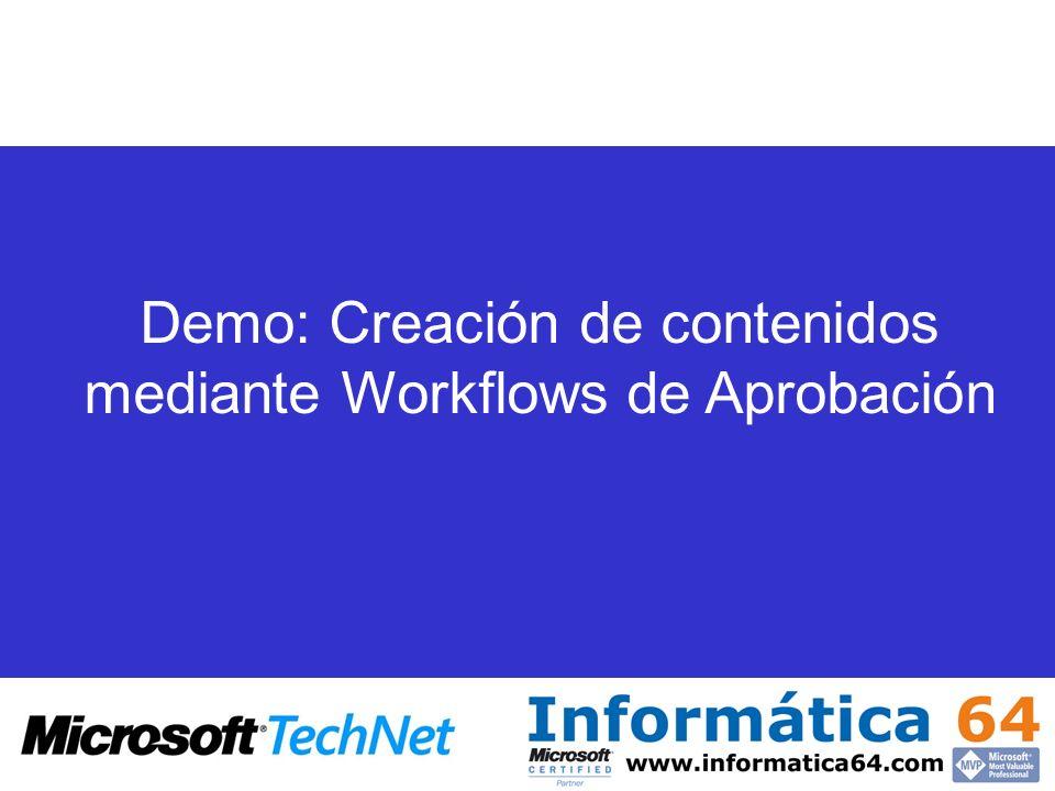 Demo: Creación de contenidos mediante Workflows de Aprobación