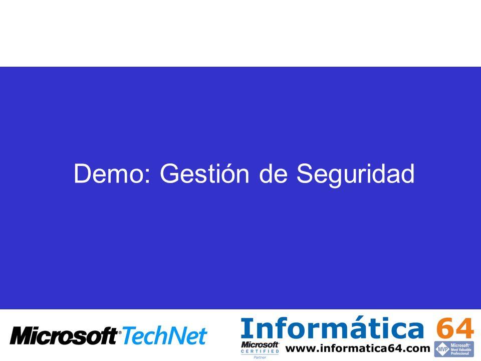 Demo: Gestión de Seguridad