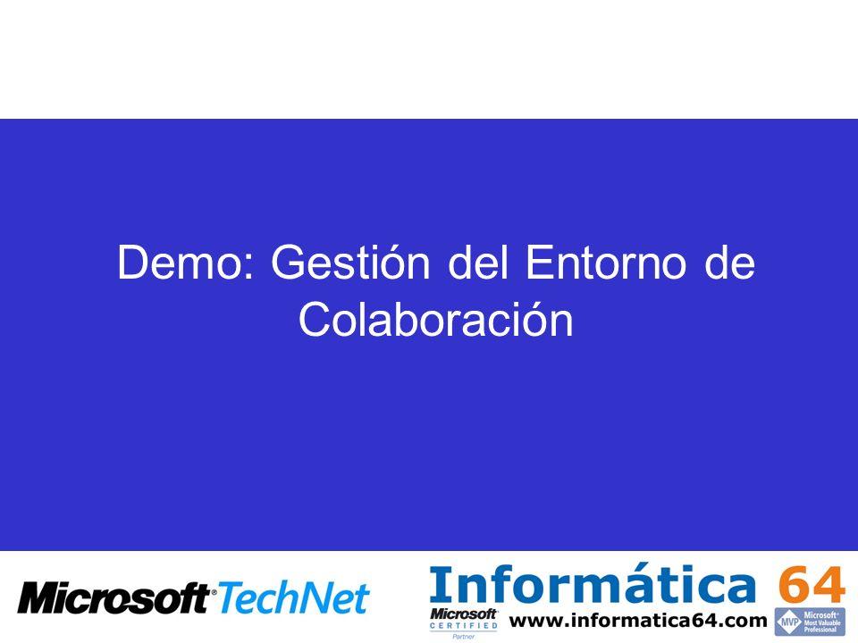 Demo: Gestión del Entorno de Colaboración