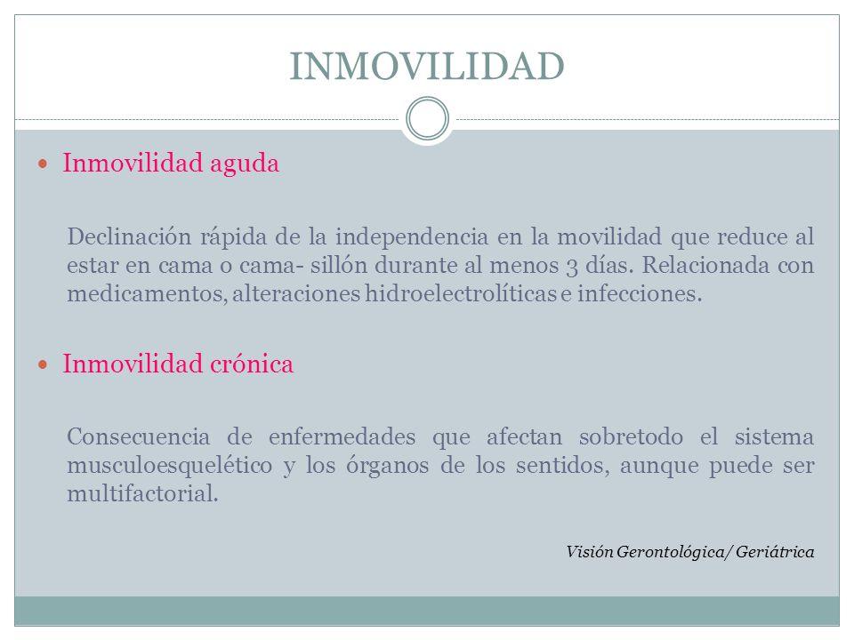 INMOVILIDAD Prevención Secundaria.