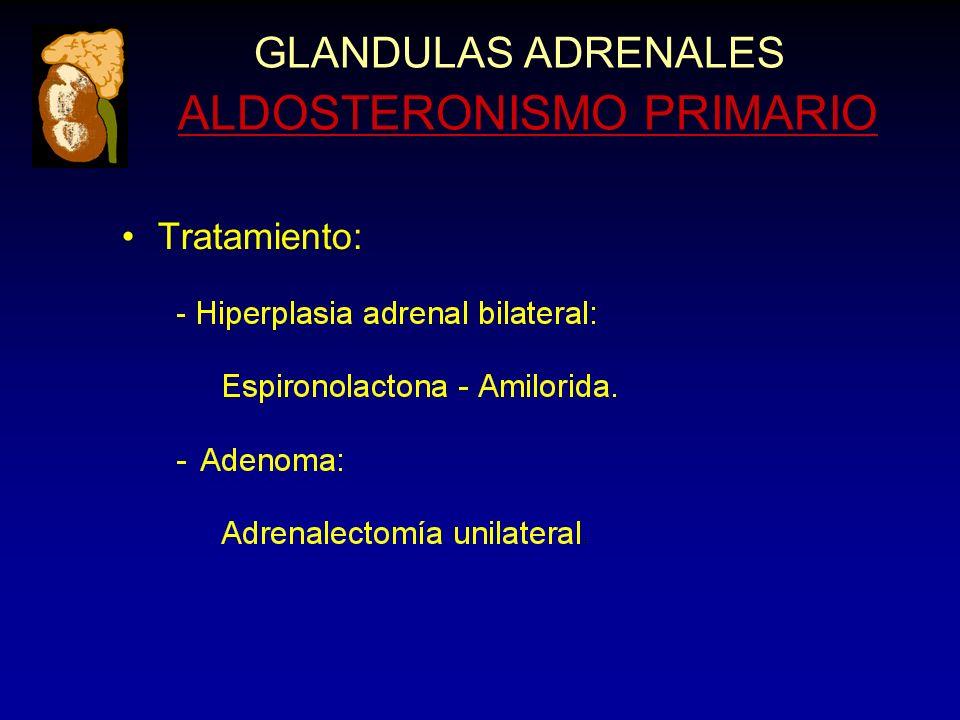 GLANDULAS ADRENALES ALDOSTERONISMO PRIMARIO Tratamiento: