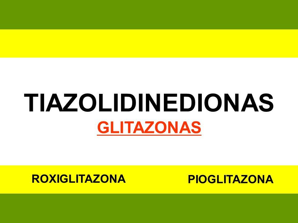 TIAZOLIDINEDIONAS GLITAZONAS PIOGLITAZONA ROXIGLITAZONA