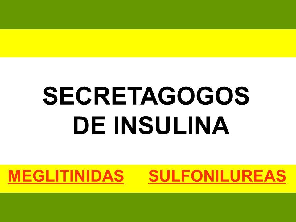 SECRETAGOGOS DE INSULINA MEGLITINIDAS SULFONILUREAS