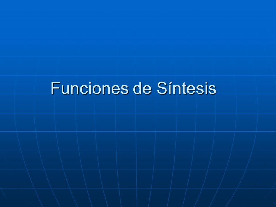 Funciones de Síntesis