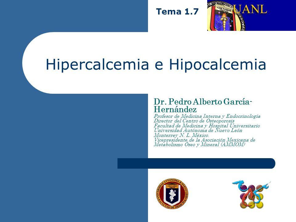 Hipercalcemia Definición. – Es un aumento anormal de la concentración sèrica de calcio ionizado