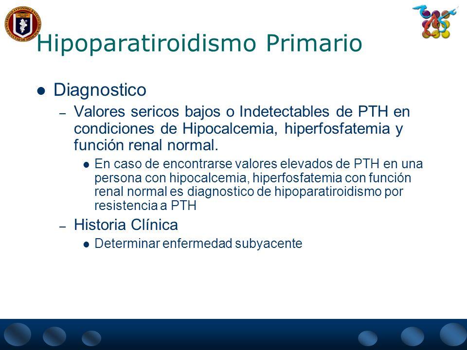 Hipoparatiroidismo Primario Tratamiento.