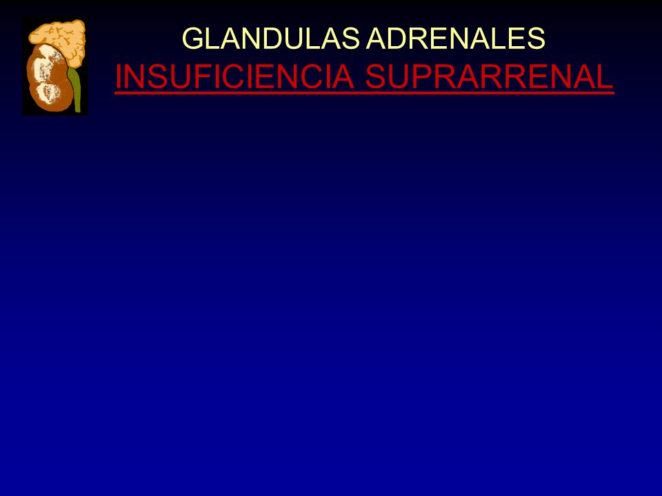 GLANDULAS ADRENALES INSUFICIENCIA SUPRARRENAL