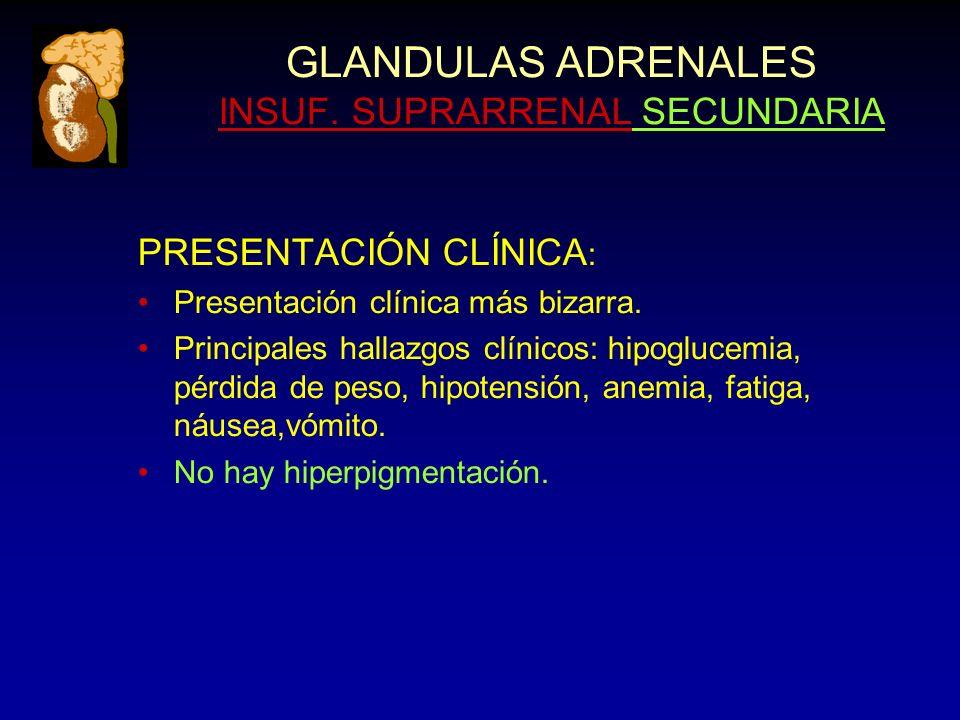 GLANDULAS ADRENALES INSUF.