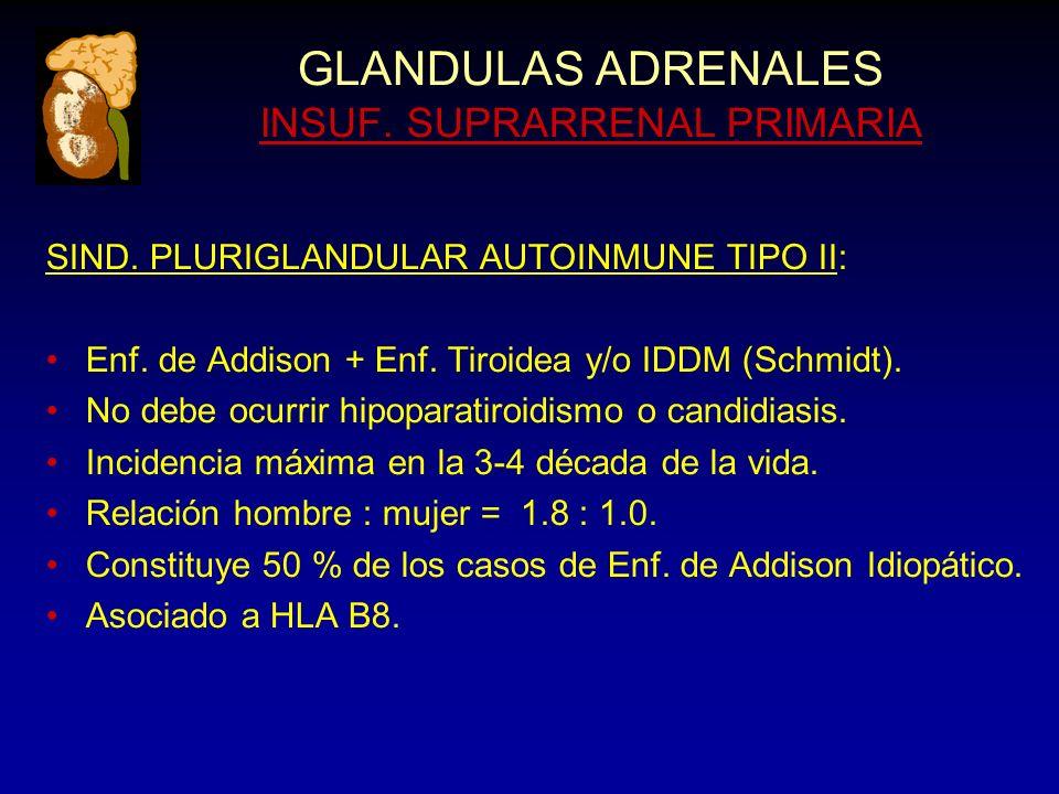 GLANDULAS ADRENALES INSUF. SUPRARRENAL PRIMARIA SIND.