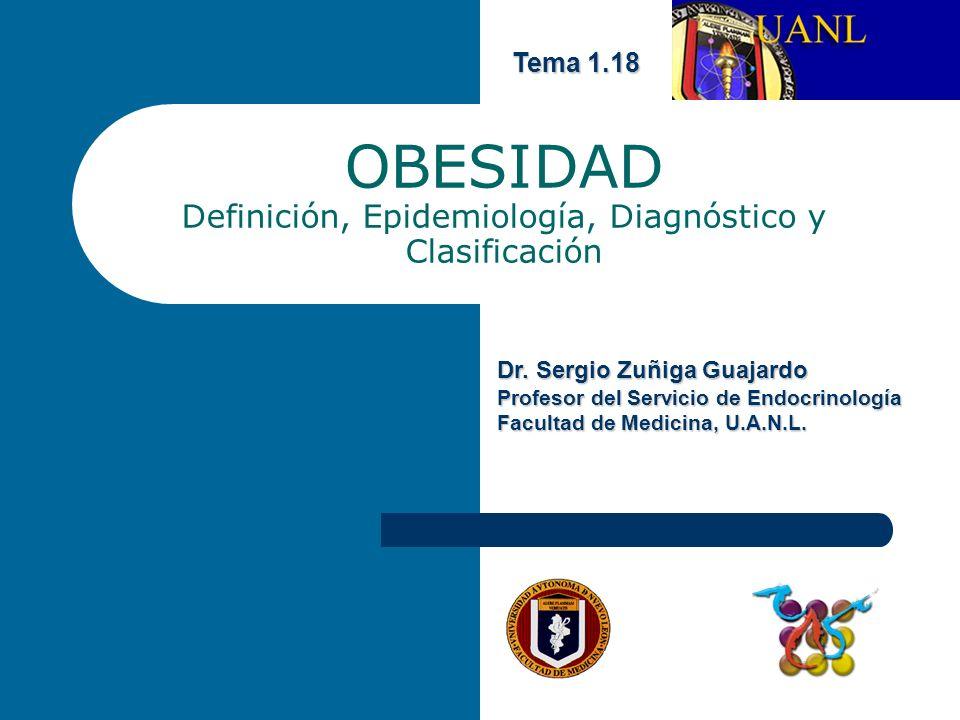 OBESIDAD Definición, Epidemiología, Diagnóstico y Clasificación Tema 1.18 Dr.