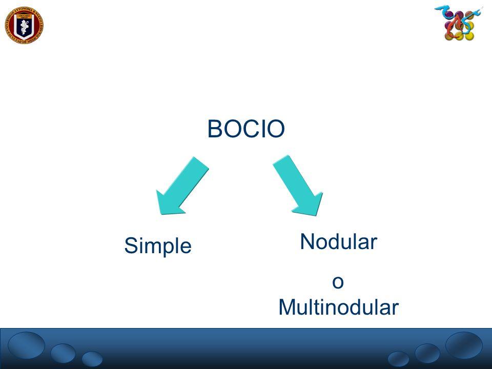 Simple Nodular o Multinodular BOCIO