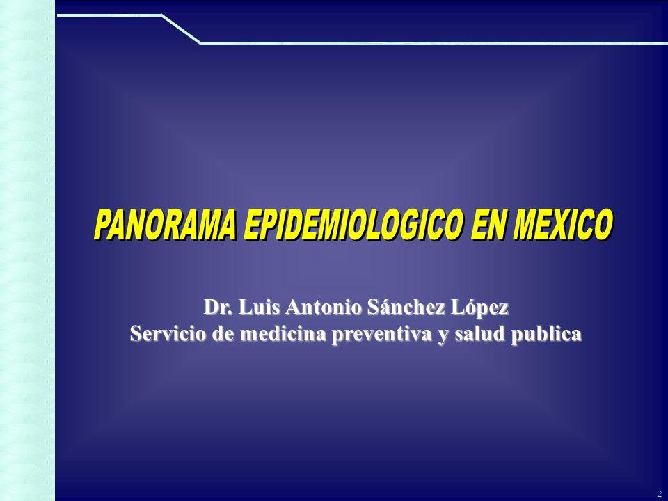 2 Dr. Luis Antonio Sánchez López Servicio de medicina preventiva y salud publica