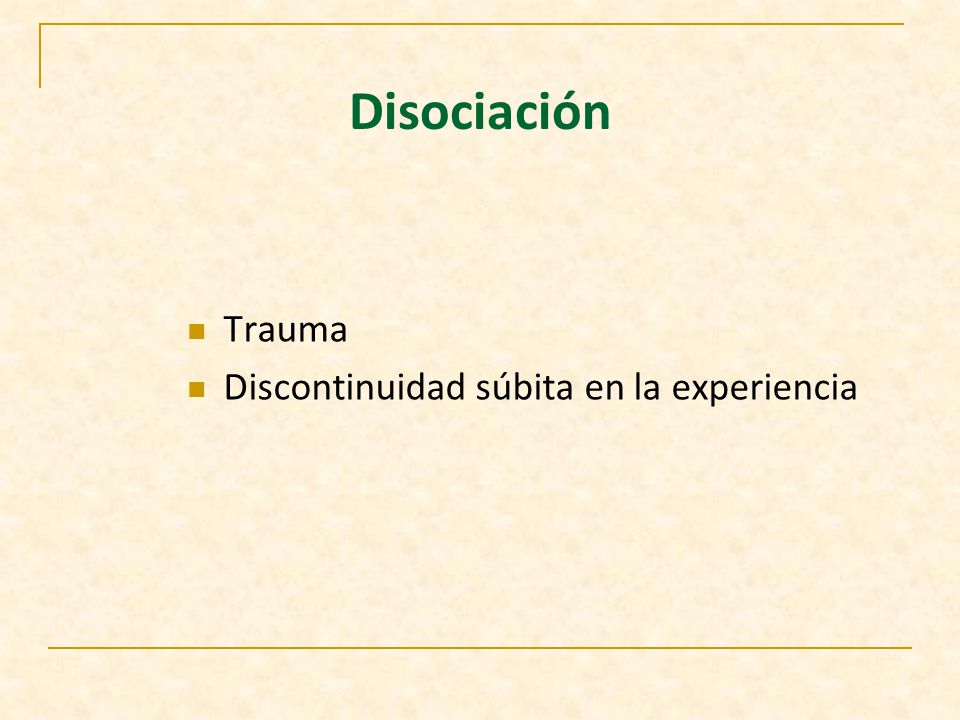CRITERIOS DIAGNOSTICOS DSM-IV FUGA DISOCIATIVA Predomina tipo repentino, viaje inesperado del hogar o sitio habitual de trabajo.