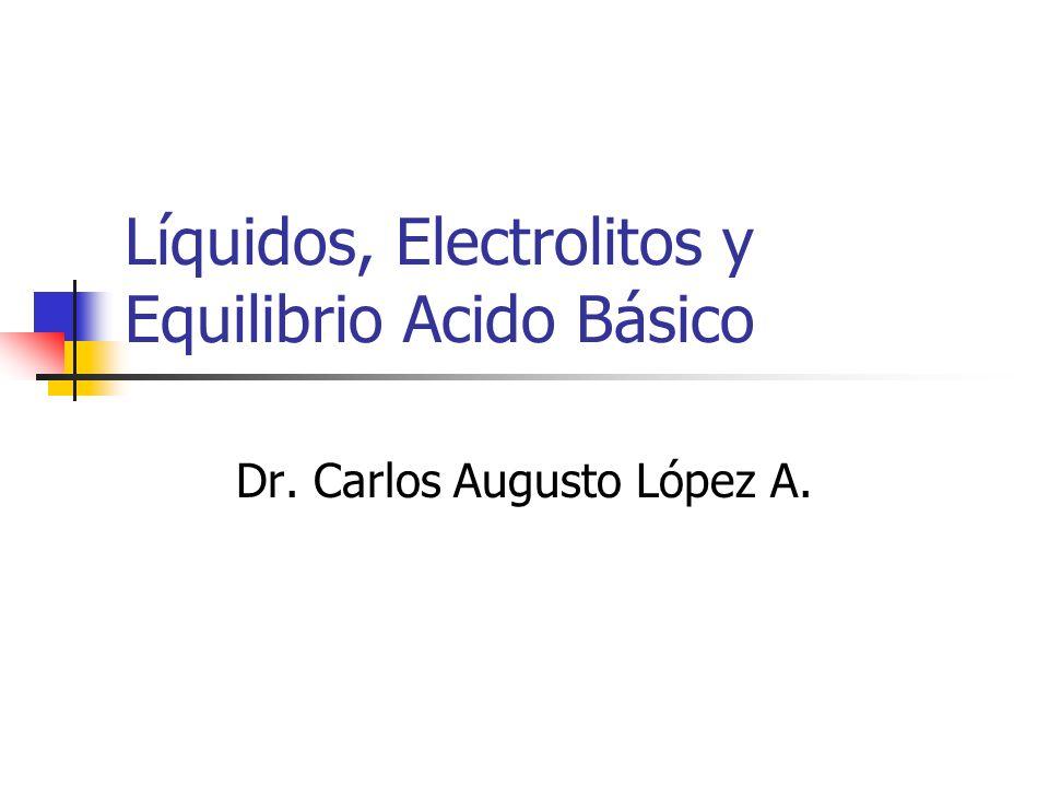 Líquidos, Electrolitos y Equilibrio Acido Básico Dr. Carlos Augusto López A.