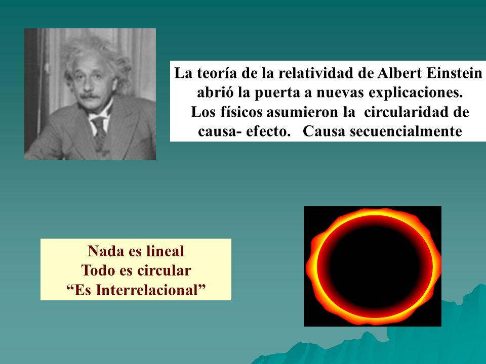 La teoría de la relatividad de Albert Einstein abrió la puerta a nuevas explicaciones. Los físicos asumieron la circularidad de causa- efecto. Causa s