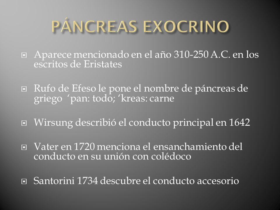 PANCREATITIS Inflamación no bacteriana del tejido pancreático Puede ser: aguda o crónica Las lesiones anatomopatológicas son necrosis del parénquima y de la grasa pancreática La magnitud de la reacción inflamatoria varia de acuerdo a la gravedad del episodio