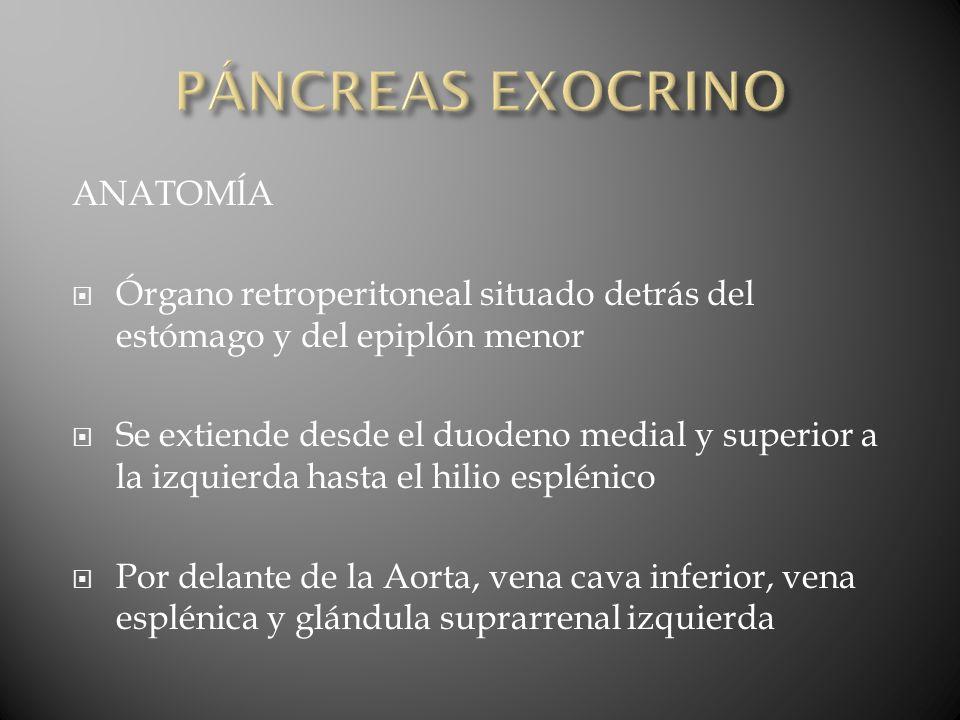 Complicaciones de la pancreatoduodenectomía Mortalidad 2-4% Dehiscencias anastomóticas Dehiscensia de la anastomosis pancreática 15- 20% ocasiona una fístula pancreática Retraso en el vaciamiento gástrico 15-40% Abscesos intraabdominales
