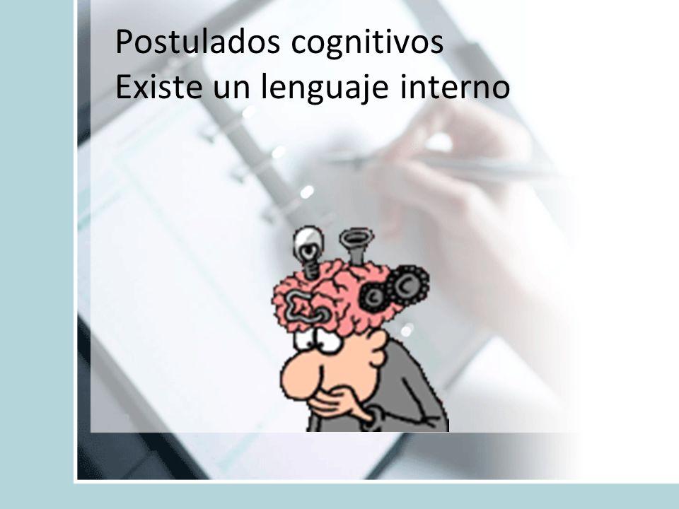 Postulados cognitivos Existe un lenguaje interno