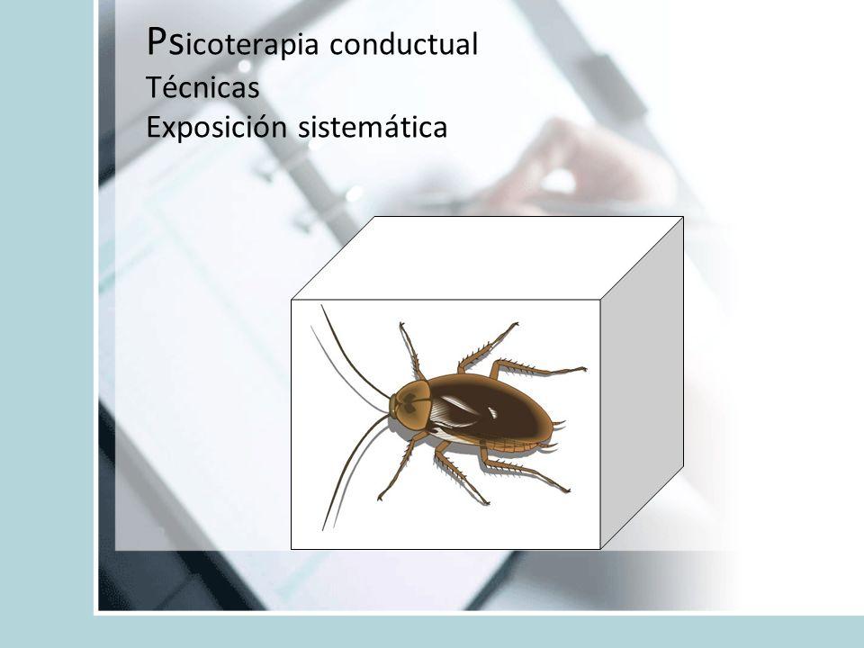 Ps icoterapia conductual Técnicas Exposición sistemática