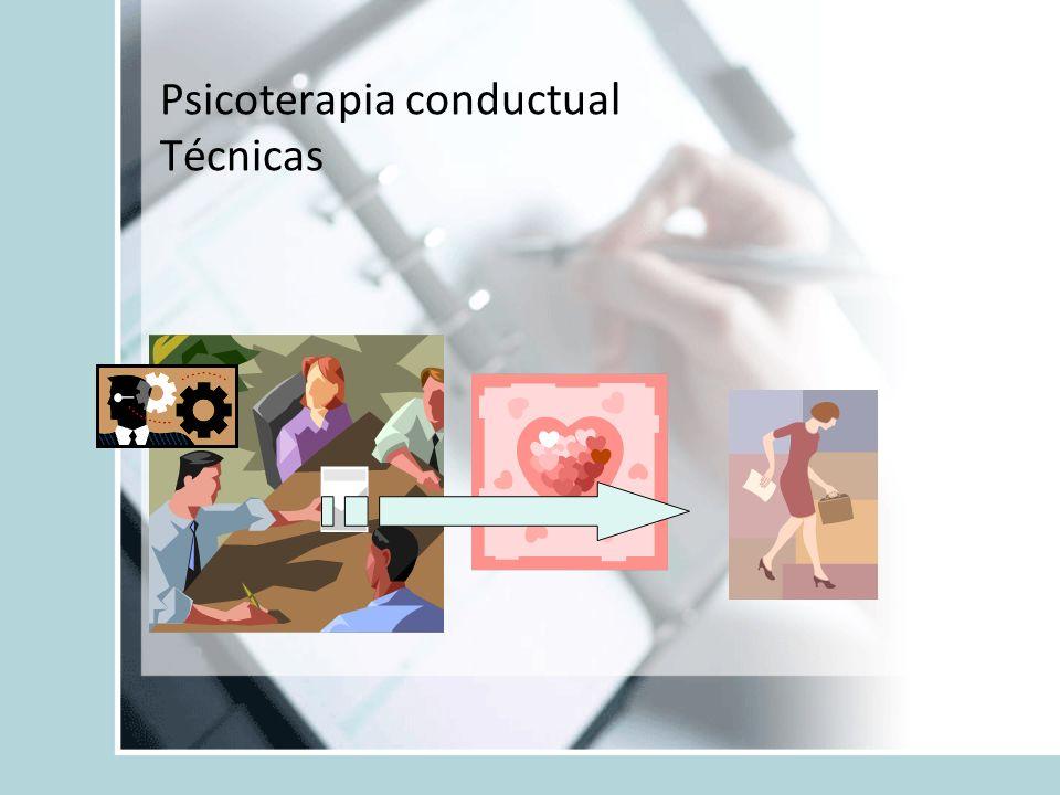Psicoterapia conductual Técnicas