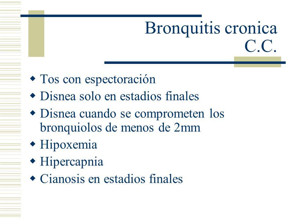 Diagnostico: Cuadro clínico Radiológico: Rx: se observan lineas o sombras que corresponden al engrosamiento de las paredes bronquiales.