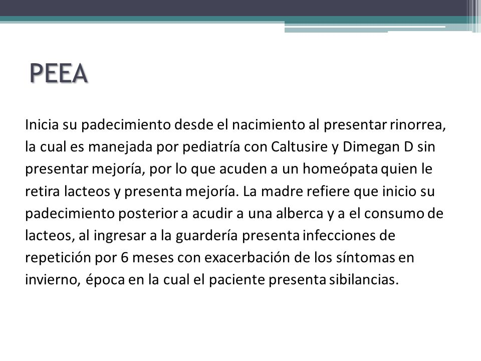 IPAS Rinorrea hialina, prurito nasal, estornudos en salva ocasionalmente Fosas Nasales con cornetes hipertróficos al 30%, mucosa normal con puentes de moco hialino, faringe hiperemica sin descarga retronasal Soplo cardiaco grado II sin repercusiones hemodinámicas, rítmico