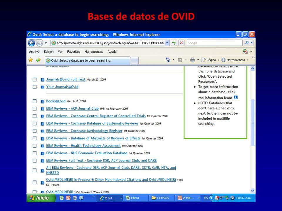 Bases de datos de OVID