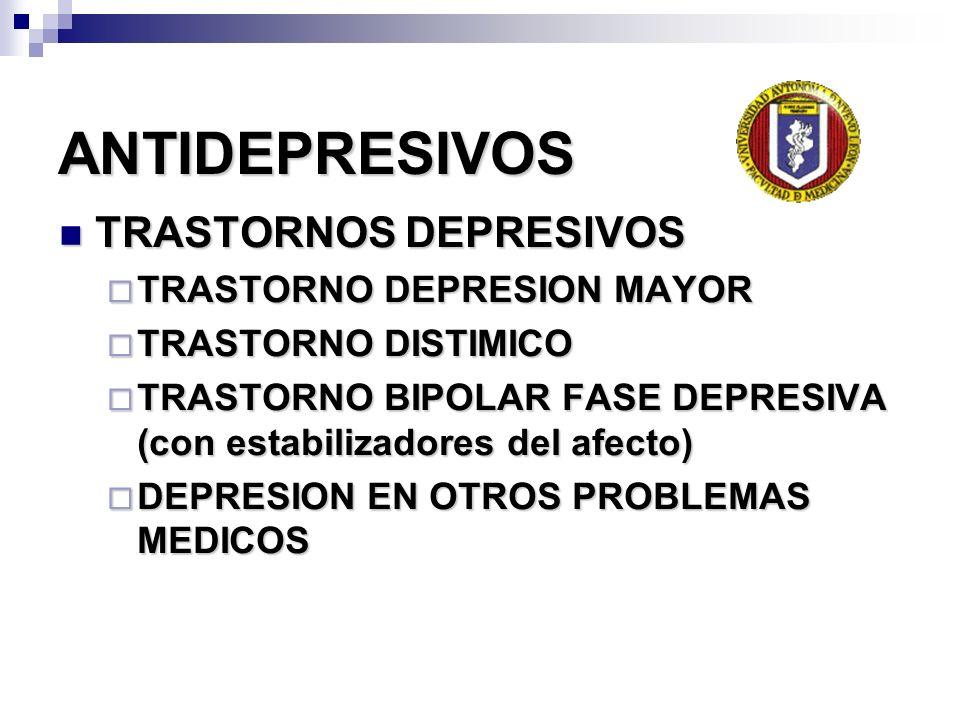 ANTIDEPRESIVOS TRASTORNOS DEPRESIVOS TRASTORNOS DEPRESIVOS TRASTORNO DEPRESION MAYOR TRASTORNO DEPRESION MAYOR TRASTORNO DISTIMICO TRASTORNO DISTIMICO