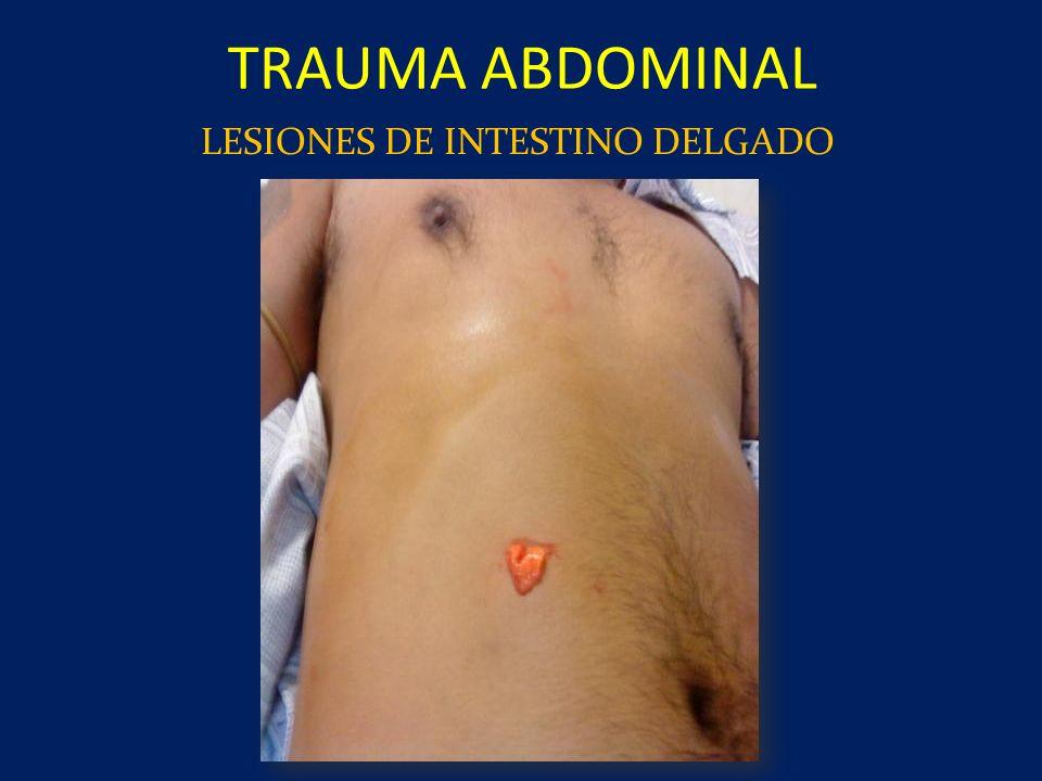 TRAUMA ABDOMINAL LESIONES DE INTESTINO DELGADO