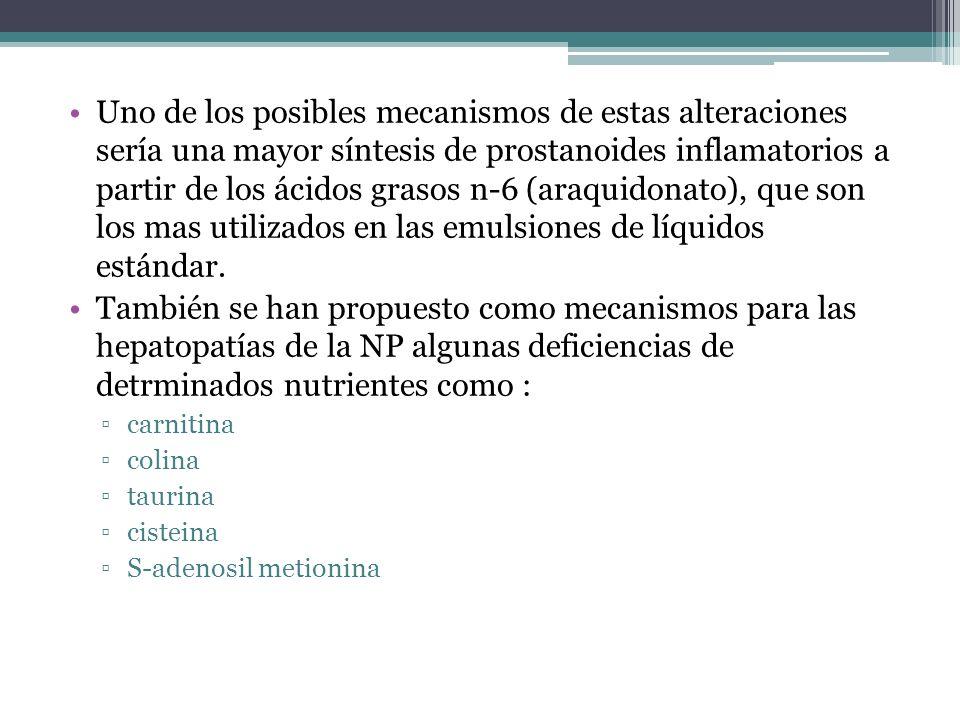 Uno de los posibles mecanismos de estas alteraciones sería una mayor síntesis de prostanoides inflamatorios a partir de los ácidos grasos n-6 (araquid