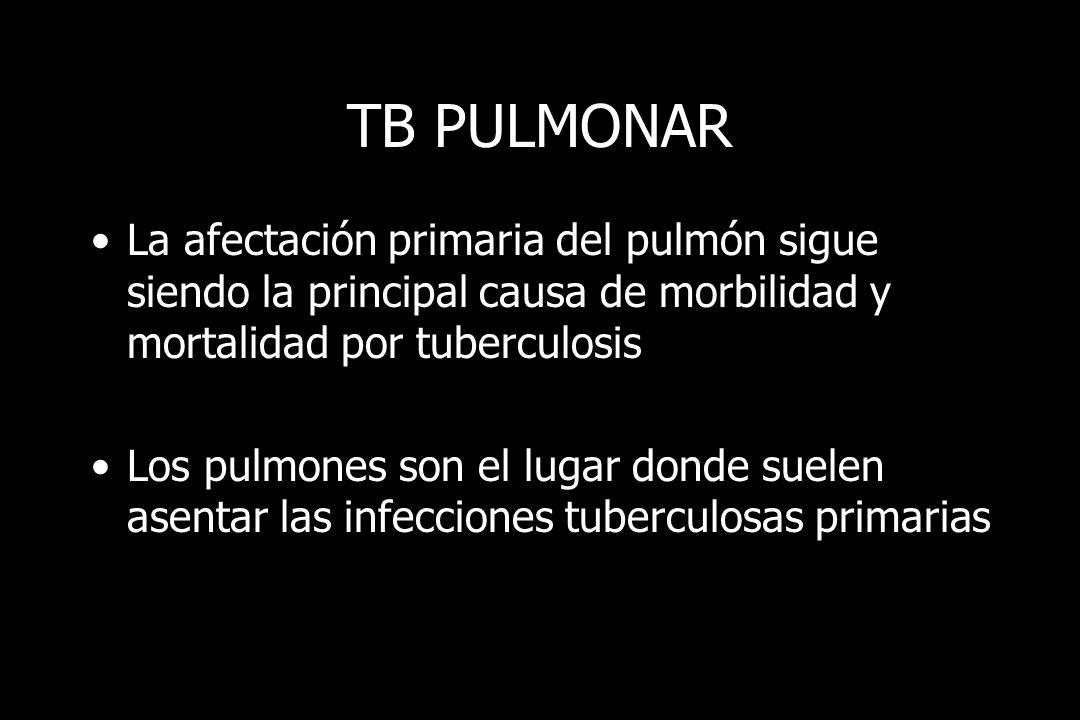 TB MILIAR Diseminación linfohematógena Pulmón u otros órganos