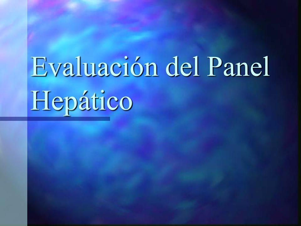 Evaluación del Panel Hepático