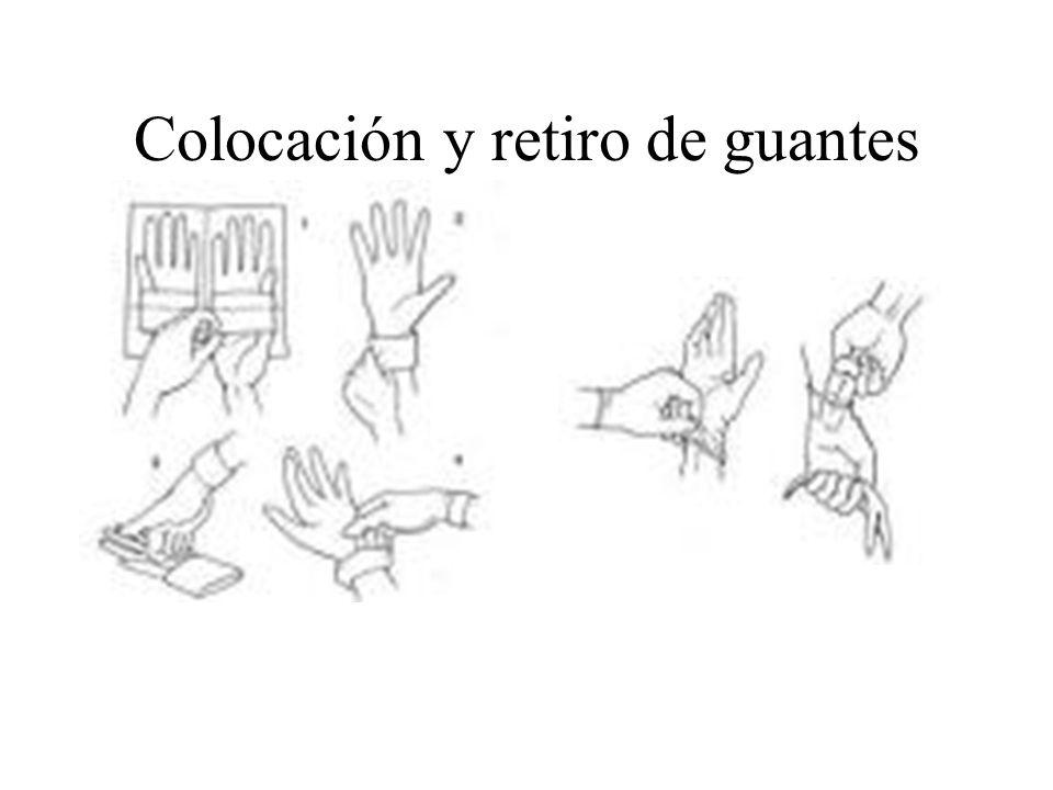 Colocación y retiro de guantes