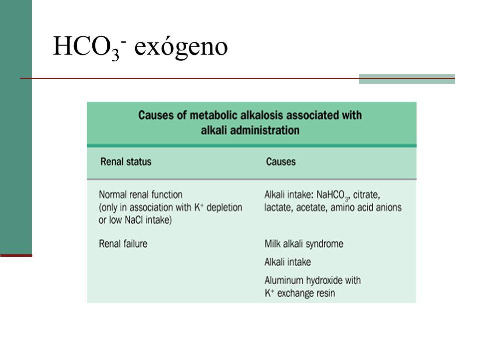 HCO 3 - exógeno