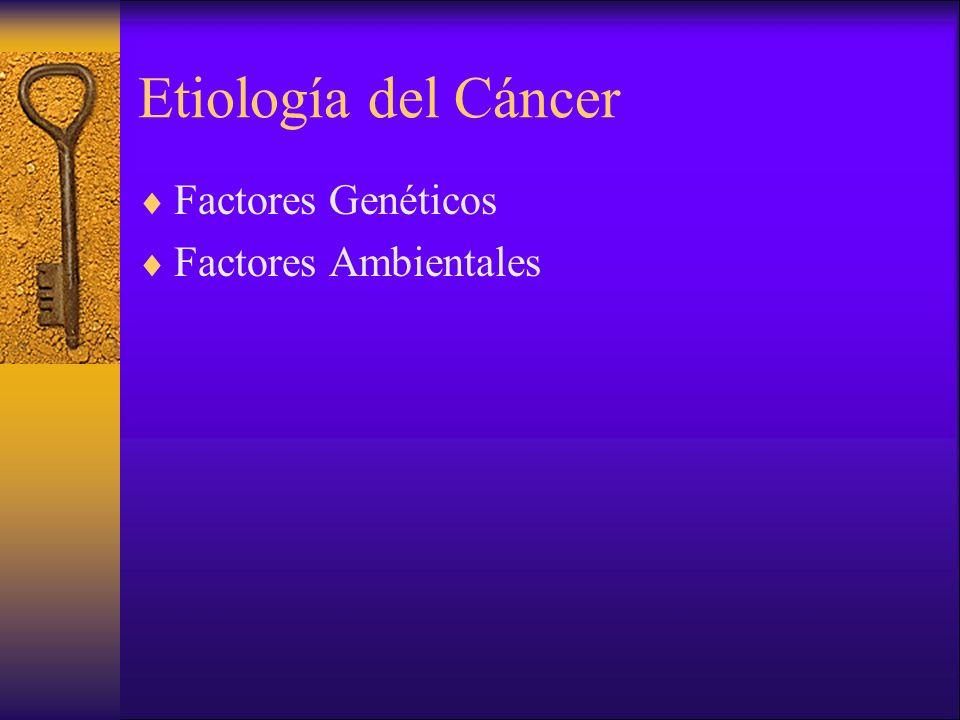 Etiología del Cáncer Factores Genéticos Factores Ambientales