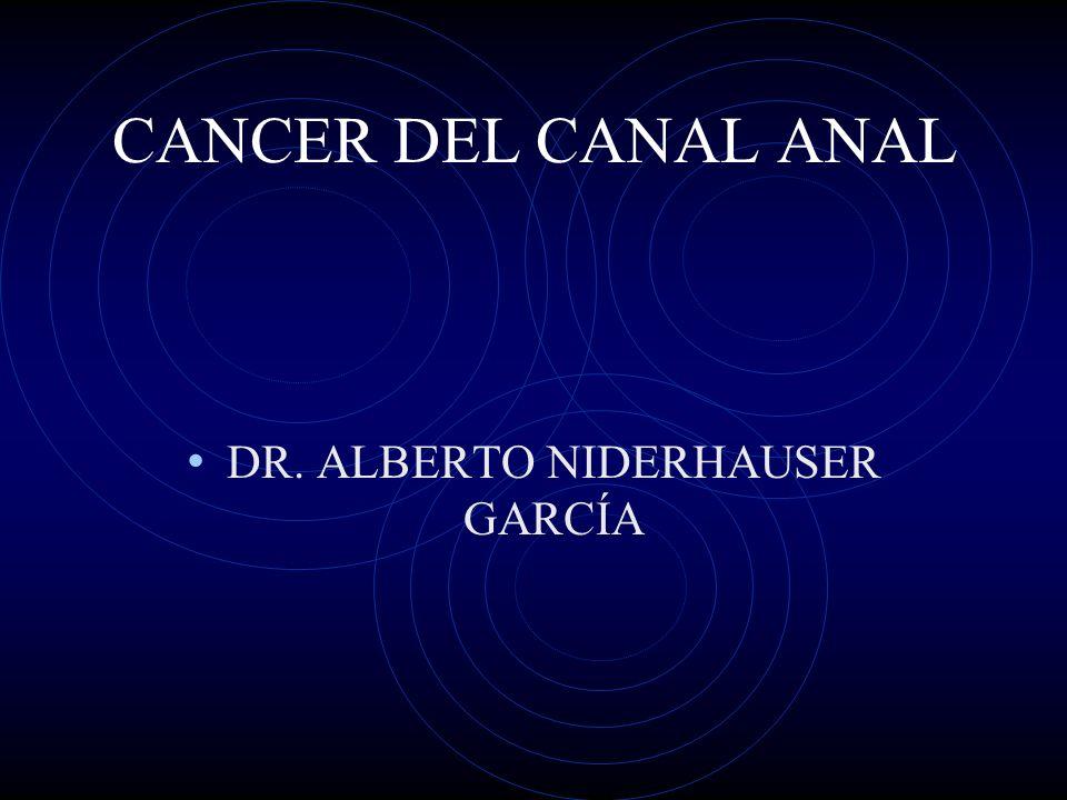 CANCER DEL CANAL ANAL DR. ALBERTO NIDERHAUSER GARCÍA