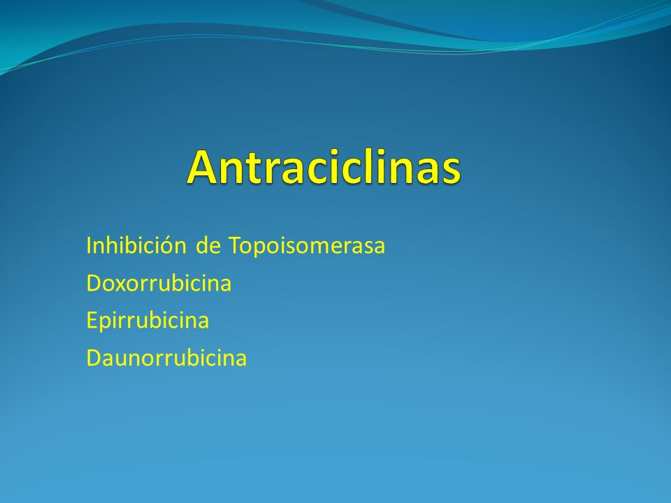 Inhibición de Topoisomerasa Doxorrubicina Epirrubicina Daunorrubicina