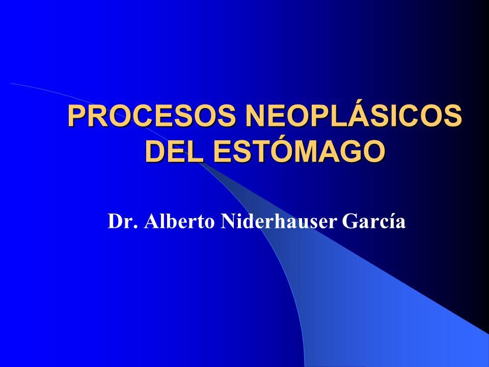 PROCESOS NEOPLÁSICOS DEL ESTÓMAGO Dr. Alberto Niderhauser García