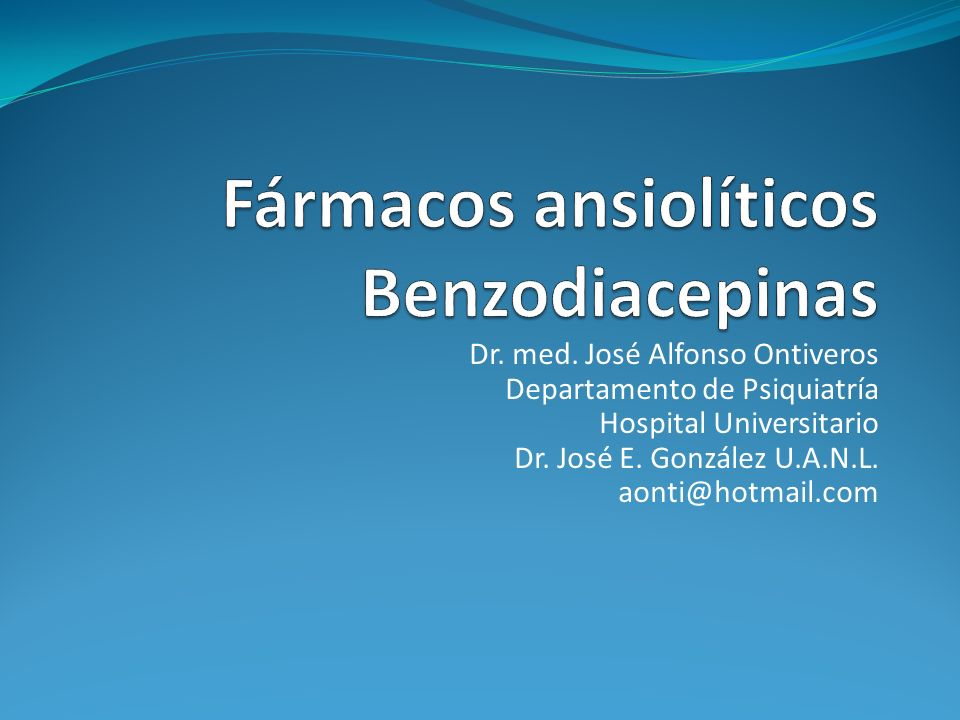 Prescripción de benzodiacepinas