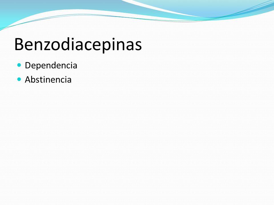 Benzodiacepinas Dependencia Abstinencia