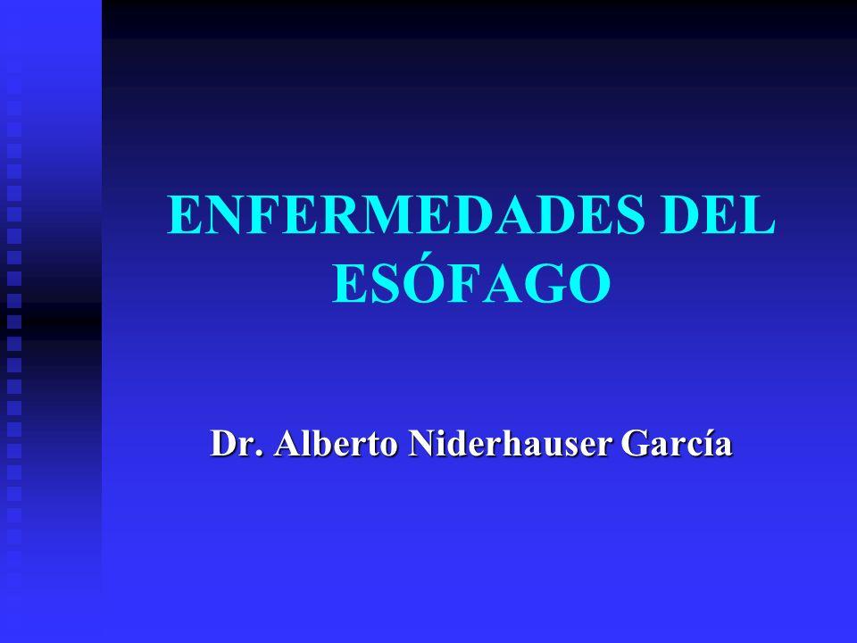 ENFERMEDADES DEL ESÓFAGO Dr. Alberto Niderhauser García