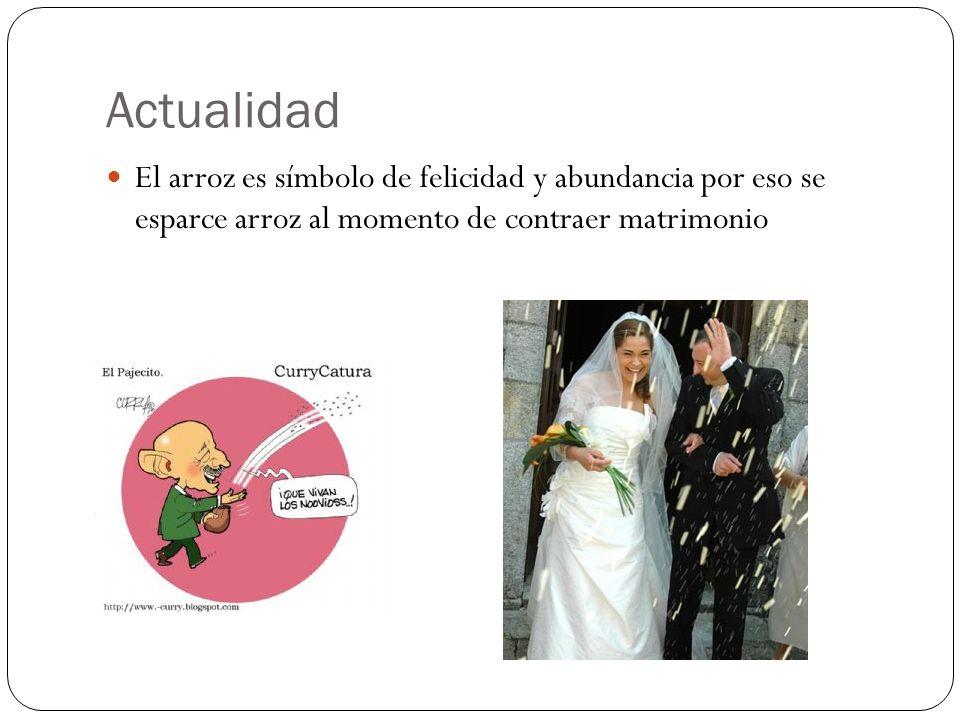 Actualidad El arroz es símbolo de felicidad y abundancia por eso se esparce arroz al momento de contraer matrimonio