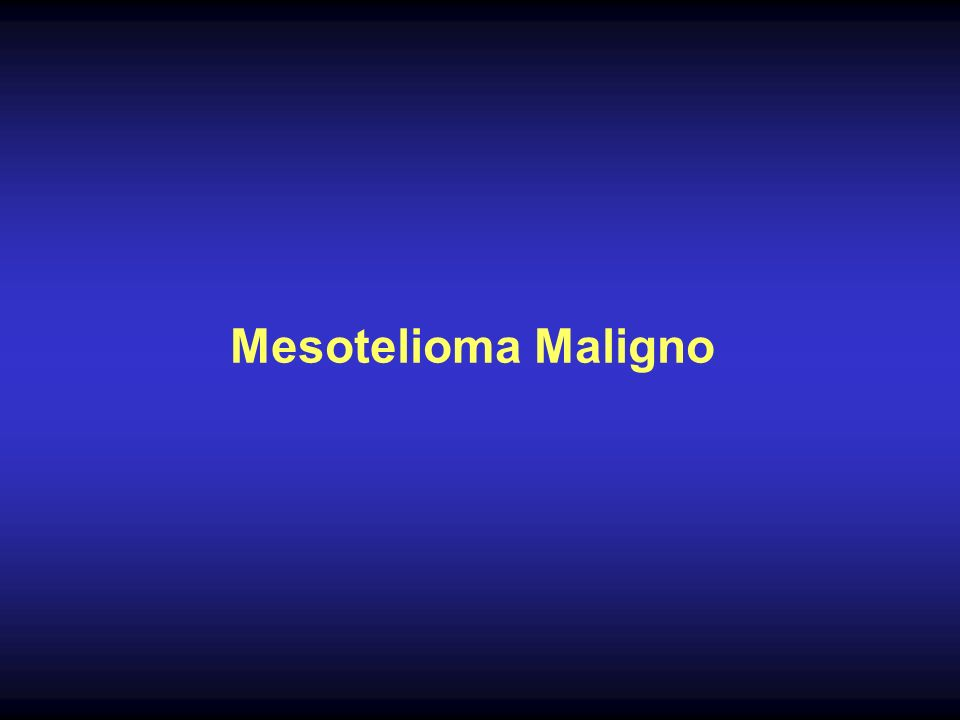 Mesotelioma Maligno