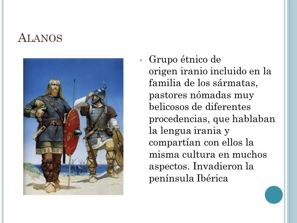 A LANOS Grupo étnico de origen iranio incluido en la familia de los sármatas, pastores nómadas muy belicosos de diferentes procedencias, que hablaban