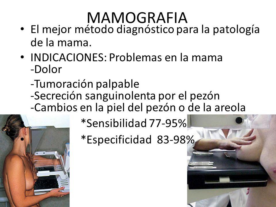 Imagenologìa de la mama Mamografía (Screening vs. Diagnostica) Ecografía Resonancia Magnética Medicina Nuclear: Gamagrafía Tomografía por Emisión de P