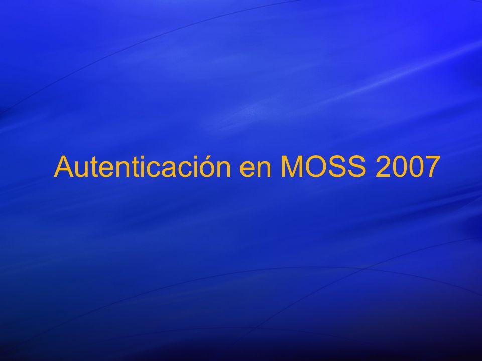Autenticación en MOSS 2007