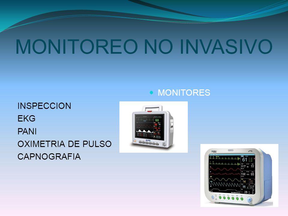 MONITOREO NO INVASIVO INSPECCION EKG PANI OXIMETRIA DE PULSO CAPNOGRAFIA MONITORES