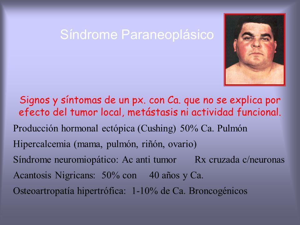 Caquexia Síndrome: Pérdida de grasa y masa corporal con dedebilidad, anorexia, anemia - Alteación: gusto y olfato - Gasto Calórico e indice metabólico