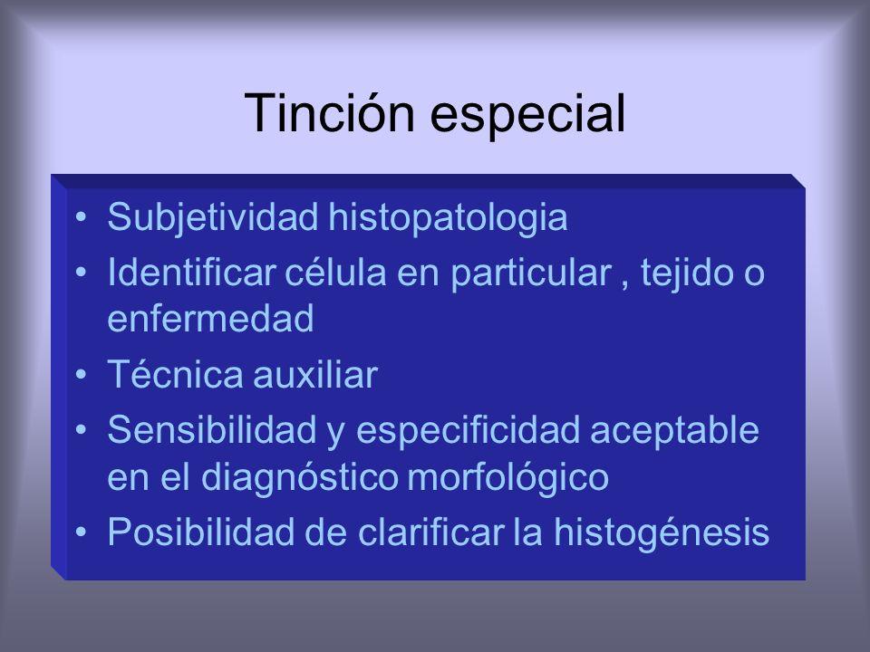 Historia Tinción facilita la distinción diferentes componentes celulares. HyE Weigert, Harris, Mayer 1939 Histoenzimología 1942 Coons Inmunoflourescen