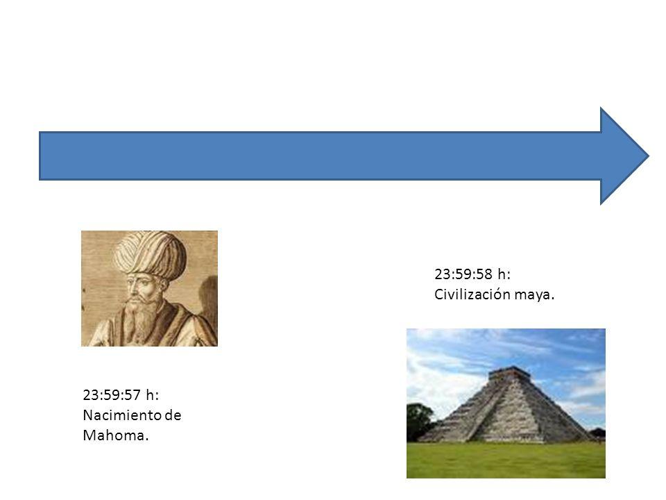 23:59:57 h: Nacimiento de Mahoma. 23:59:58 h: Civilización maya.